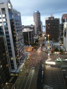 from the 19th floor, Crowne Plaza Auckland